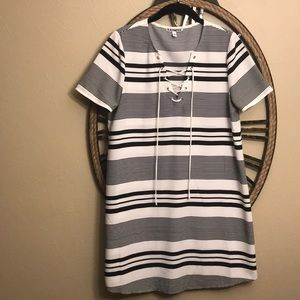 Express small striped dress
